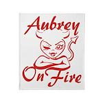 Aubrey On Fire Throw Blanket