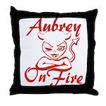 Aubrey On Fire Throw Pillow