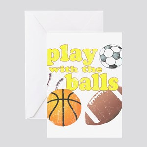 Play With The Balls Greeting Card