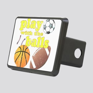 Play With The Balls Rectangular Hitch Cover