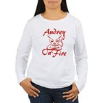 Audrey On Fire Women's Long Sleeve T-Shirt