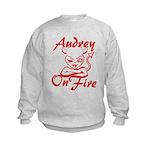 Audrey On Fire Kids Sweatshirt