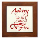 Audrey On Fire Framed Tile