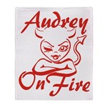Audrey On Fire Throw Blanket
