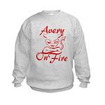 Avery On Fire Kids Sweatshirt