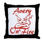 Avery On Fire Throw Pillow