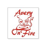 Avery On Fire Square Sticker 3
