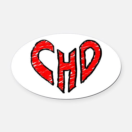 chd 2012 heartwalk Oval Car Magnet