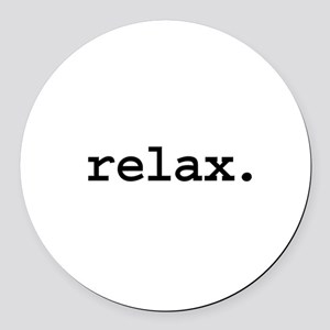 relax Round Car Magnet