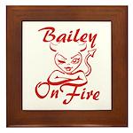 Bailey On Fire Framed Tile