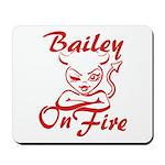 Bailey On Fire Mousepad