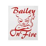 Bailey On Fire Throw Blanket