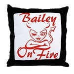Bailey On Fire Throw Pillow