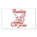 Bailey On Fire Sticker (Rectangle)