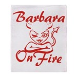 Barbara On Fire Throw Blanket