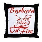 Barbara On Fire Throw Pillow
