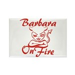 Barbara On Fire Rectangle Magnet