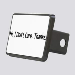 3-idontcarethanks Rectangular Hitch Cover