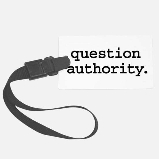 questionauthorityblk.png Large Luggage Tag
