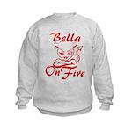 Bella On Fire Kids Sweatshirt