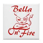 Bella On Fire Tile Coaster
