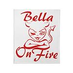 Bella On Fire Throw Blanket