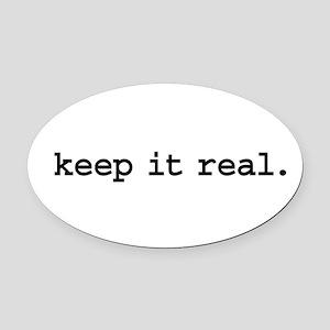 keepitrealblk Oval Car Magnet