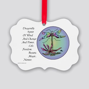 dragon fly II Picture Ornament