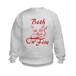 Beth On Fire Kids Sweatshirt