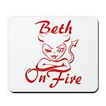 Beth On Fire Mousepad