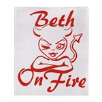 Beth On Fire Throw Blanket