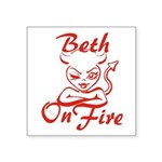 Beth On Fire Square Sticker 3