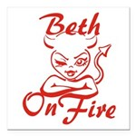 Beth On Fire Square Car Magnet 3