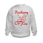 Bethany On Fire Kids Sweatshirt