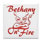 Bethany On Fire Tile Coaster