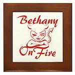 Bethany On Fire Framed Tile