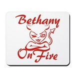 Bethany On Fire Mousepad