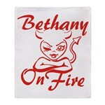 Bethany On Fire Throw Blanket