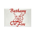 Bethany On Fire Rectangle Magnet