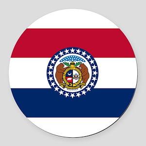 Missouri Round Car Magnet