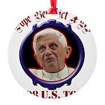 popebenedictustour08 Round Ornament