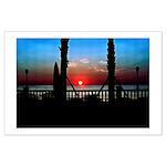 Sunrise Over Virginia Beach Large Poster