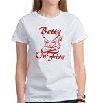 Betty On Fire Women's T-Shirt