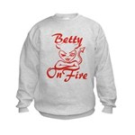 Betty On Fire Kids Sweatshirt