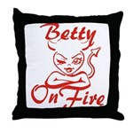 Betty On Fire Throw Pillow
