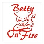 Betty On Fire Square Car Magnet 3