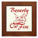 Beverly On Fire Framed Tile