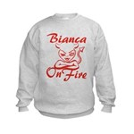 Bianca On Fire Kids Sweatshirt