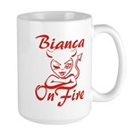 Bianca On Fire Large Mug