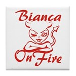 Bianca On Fire Tile Coaster